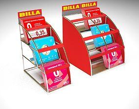 3D model interior Brochure Stand