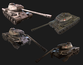 IS2-2 Soviet PBR Unity Game Ready tank model realtime