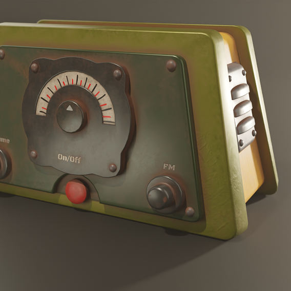 Rusty Radio Low-poly