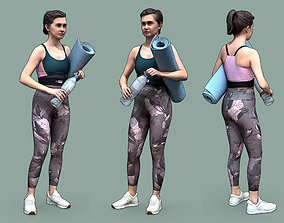 3D model Stylized Fitness Character