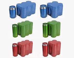 Packagings for beverage soda beer cans 3D