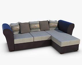 Couch armchair 3D model VR / AR ready