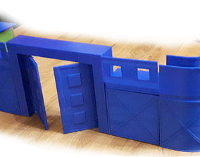 3D printable model Tabletop Modular Wall System