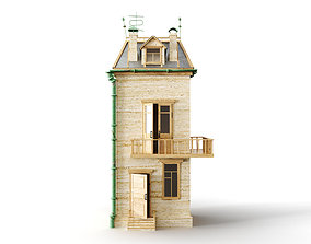 3D model animation Cartoon house