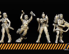 3D print model Female Jungle Fighters