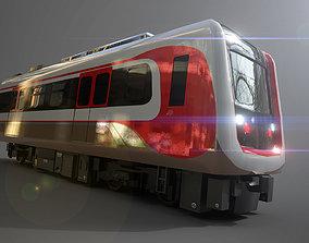 LRT Jakarta Velodrome Jakpro 3D Model AR VR game-ready