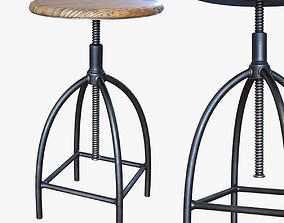 vintage and industrial stool - Sire 3D asset