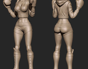 Girl boxer 3D printable model
