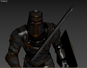 sword and shield attack 3D model