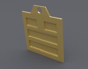 3D print model rgd dui trigram pendant mk2