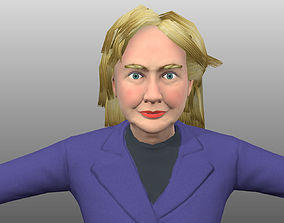 3D model Hillary Clinton low poly