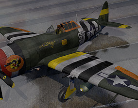 3D model Republic P-47C Thunderbolt - Razorback