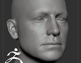 3D Average Caucasian Male Head Basemesh
