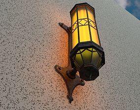 3D asset Art deco bridge lantern