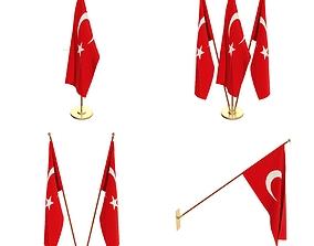 3D model Turkey Flag Pack
