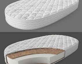 Oval mattress section 3D model
