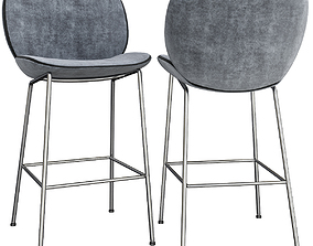 Beetle Counter Chair - Front Upholstered low game-ready 2