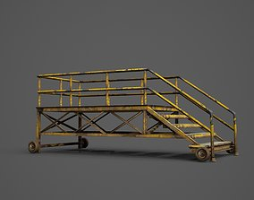 3D model Movable iron ladder
