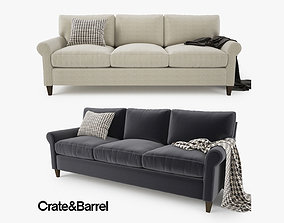 Crate and Barrel Montclair 3 Seat Sofa 3D