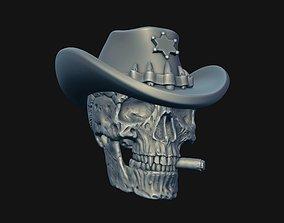 3D print model Skull Sheriff