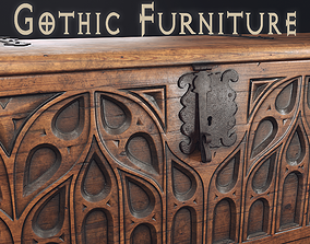 3D model Gothic Furniture 2