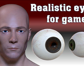 3D model Realistic eye for game characters