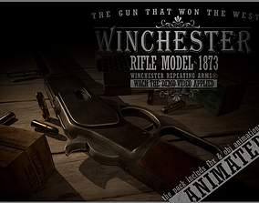 3D asset animated Winchester 1873