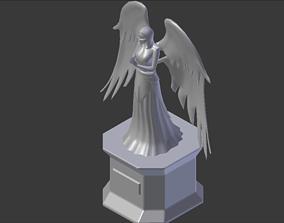 3D model fantasy Angel Statue