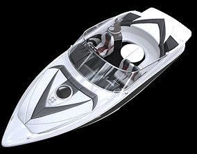 3D nautical Speed Boat