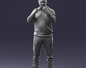 Man sweater boxer rack 0742 3D Print Ready