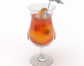 3D model Tropical Cocktail Glass