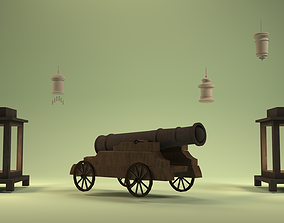 3D animated cannon