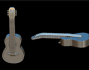3D printable model necklace Guitar pendant