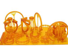 3D printable model golden ring earring pendant total 11