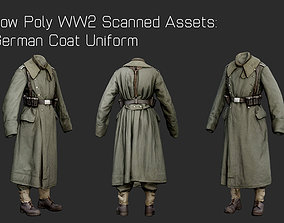 German Uniform WW2 Photogrammetry 3D Scanned game-ready