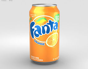 3D model Fanta Orange Can 12 FL