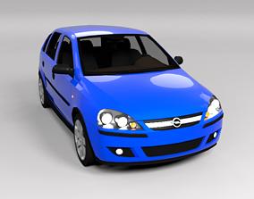 OPEL CORSA C 5D LOWPOLY 3D asset