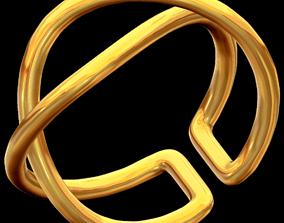 3D printable model Adjustable Double Twist ring