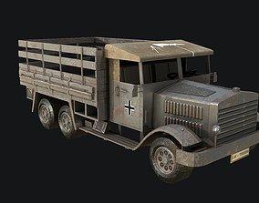 WW2 German Truck Low Poly 3D model