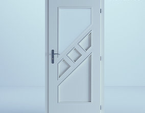 3D minimalist White Door 51