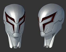 Spiderman 2099 PS4 white helmet 3D printable model