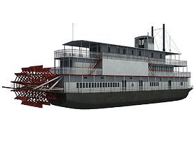 3D Old Steam Boat