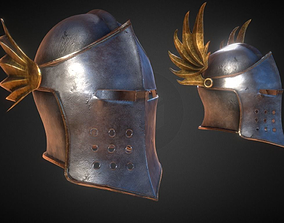 3D model Helm No9 Barbute with 3 variants