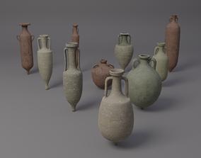 3D asset Ancient roman amphorae