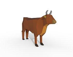 Cow Cartoon 3D asset game-ready