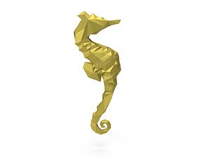 Seahorse low poly 3D asset