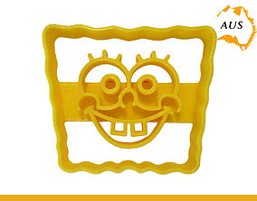 3D printable model Sponge Bob Square Pants Cookie Cutter 3