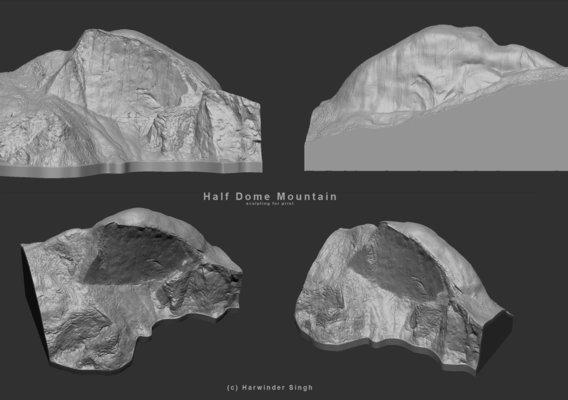 Half -Dome mountain