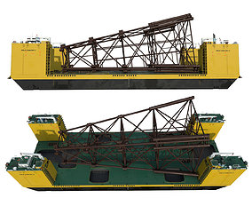Heavy Lift Carriers barge FELS CAN DO II 3D asset
