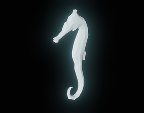 3D Low Poly Seahorse